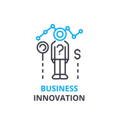 business innovation concept outline icon linear vector image vector image