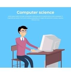 Computer science concept banner vector