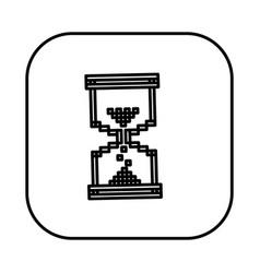 figure symbol hourglass icon vector image vector image
