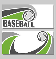 baseball banners vector image
