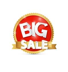 Big Sale Red Gold Label Sticker vector image vector image