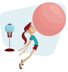 bubblegum girl vector image vector image