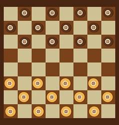 Checkers game vector