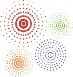 circles icon set vector image vector image