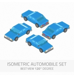 Isometric automobile set vector image vector image