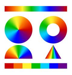 multicolor conical gradient vector image