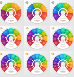 set of circle infographic templates vector image vector image