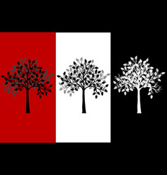 abstract tree canvas vector image