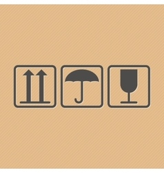 Handling and packing icons vector image vector image