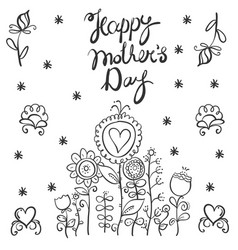 mother day style with flower vector image vector image