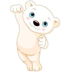Polar Bear Jumping vector image vector image