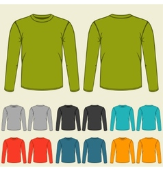 Set of templates colored sweatshirts for men vector image vector image