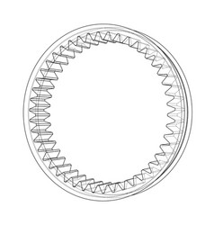 3d gear wheel rendering of 3d vector image