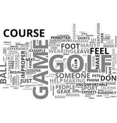 A quick course for the golf course does don ts vector