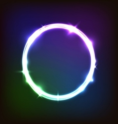 Abstract glowing background with colorful circles vector image