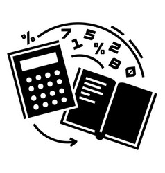 Accounting icon simple style vector