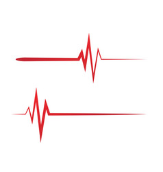 Art design heartbeat pulse vector