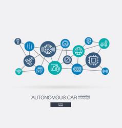 Autonomous electric car self-driving autopilot vector