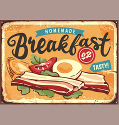 bacon boiled eggs and ingredients vector image
