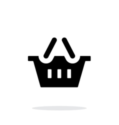 Basket simple icon on white background vector image