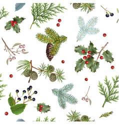 Branch christmas pattern vector