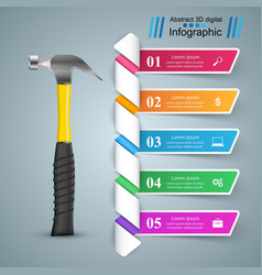 building infographics origami style vector image