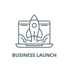 business launch line icon business launch vector image