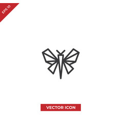 butterfly origami icon vector image