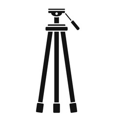 camera tripod icon simple style vector image