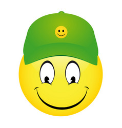 Cartoon emoticon smiley vector