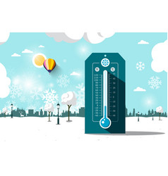 cold weather symbol frozen park flat design vector image