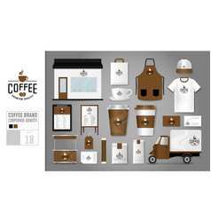 corporate identity template set 18 vector image