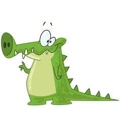 crocodile waving vector image