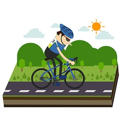 Cyclists and bike race vector