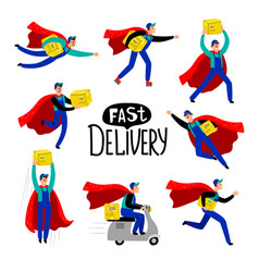 Delivery courier character vector