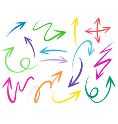 different stroke designs for arrows vector image