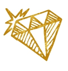 doodle diamond isolated on white background vector image