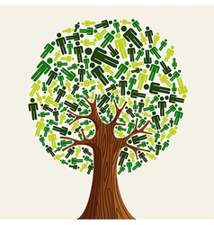 Eco friendly Tree people vector