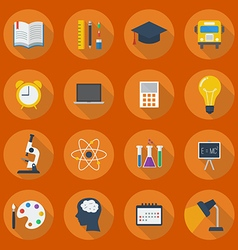 Education Flat Icon Set vector image