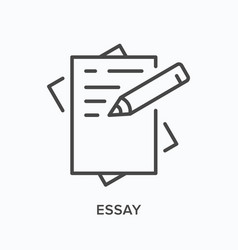 essay line icon outline of vector image