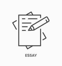 essay line icon outline vector image