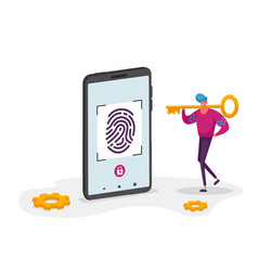 Finger print scan authorization in security vector