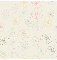 fireworks display seamless background vector image