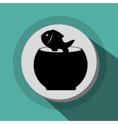 fish bowl icon vector image