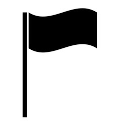 flag the black color icon vector image