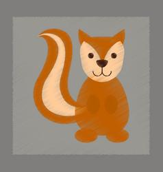 Flat shading style icon cartoon squirrel vector