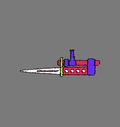 Flat shading style icon knife bayonet on rifle vector