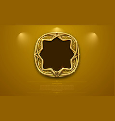 Gold frame border picture retro art vector
