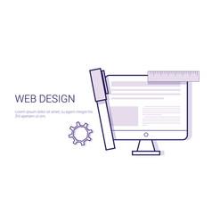 graphic web design business concept web banner vector image