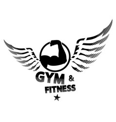 Gym and fitness silhouette vector
